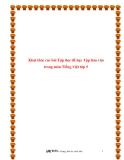 SKKN: Khai thác các bài Tập đọc để dạy Tập làm văn trong môn Tiếng Việt lớp 5