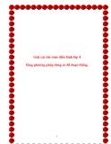 SKKN: Giải các bài toán điển hình lớp 4 bằng phương pháp dùng sơ đồ đoạn thẳng