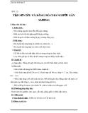 Giáo án Sinh học 8 bài 12: Thực hành tập sơ cứu và băng bó cho người gãy xương