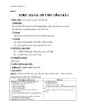 Giáo án Sinh học 8 bài 19: Thực hành Sơ cứu cầm máu