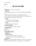 Giáo án Sinh học 8 bài 22: Vệ sinh hô hấp