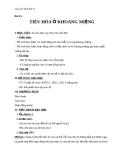 Giáo án Sinh học 8 bài 25: Tiêu hóa ở khoang miệng
