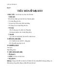 Giáo án Sinh học 8 bài 27: Tiêu hóa ở dạ dày