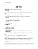 Giáo án Sinh học 8 bài 3: Tế bào