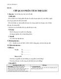Giáo án Sinh học 8 bài 49: Cơ quan phân tích thị giác