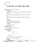 Giáo án Sinh học 8 bài 57: Tuyến tụy và tuyến trên thận