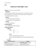 Giáo án Sinh học 8 bài 60: Cơ quan sinh dục nam