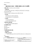 Giáo án Sinh học 8 bài 65: Đại dịch AIDS thảm họa của loại người