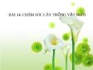 Bài giảng Đạo đức 3 bài 14: Chăm sóc cây trồng vật nuôi