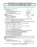Tổng hợp một số bài toán hình học lớp 9 ôn thi vào lớp 10 THPT