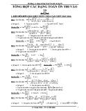 Hệ thống các dạng bài tập Toán 9 ôn thi vào lớp 10