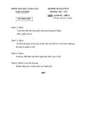 Đề thi và đáp án HK II môn Sử lớp 6 - Phòng GD&ĐT Quận Tân Bình