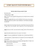 Đề thi Toán tuổi thơ - Bài 4