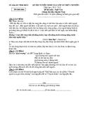 Đề thi tuyển sinh lớp 10 chuyên môn Ngữ văn năm 2010- 2011 - Sở GD&ĐT Vĩnh Phúc