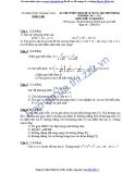 Đề thi tuyển sinh 10 Toán  - Sở GD&ĐT Đắk Lắk (2011-2012)