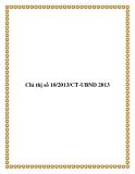 Chỉ thị số 10/2013/CT-UBND 2013