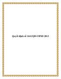 Quyết định số 1441/QĐ-UBND 2013