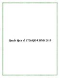 Quyết định số 1726/QĐ-UBND 2013