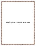 Quyết định 1155/QĐ-UBND 2013