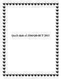 Quyết định số 3584/QĐ-BCT 2013