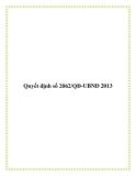 Quyết định số 2062/QĐ-UBND 2013