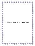 Thông tư số 88/2013/TT-BTC 2013