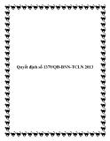 Quyết định số 1379/QĐ-BNN-TCLN 2013