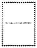 Văn bản số 1151/QĐ-UBND 2013