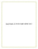 Văn bản số 29/2013/QĐ-UBND 2013