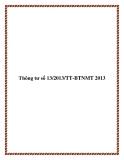 Thông tư số 13/2013/TT-BTNMT 2013