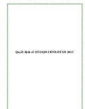 Quyết định số 2532/QĐ-UBND.ĐTXD 2013