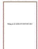 Thông tư số 14/2013/TT-BTNMT 2013