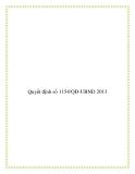 Quyết định số 1154/QĐ-UBND 2013