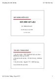 Bài giảng Vật liệu xây dựng: Chương 1 - GV Trần Hữu Huy