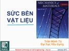 Bài giảng Sức bền vật liệu: Chương 5 - GV Trần Minh Tú
