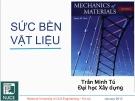 Bài giảng Sức bền vật liệu: Chương 2 - TS GV Trần Minh Tú