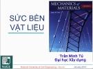 Bài giảng Sức bền vật liệu: Chương 3 - GV Trần Minh Tú