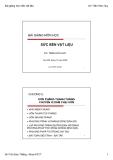 Bài giảng Vật liệu xây dựng: Chương 5 - GV Trần Hữu Huy
