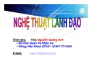 Bài giảng Nghệ thuật lãnh đạo: Chương 1 - TS Nguyễn Quang Anh