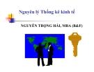 Bài giảng Nguyên lý thống kê kinh tế -  Nguyễn Trọng Hải MBA