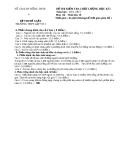 Đề KTCL HK1 Sinh Học 10 - THPT Lấp Vò 3 (2012-2013) - Kèm đáp án
