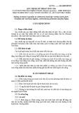 Quy chuẩn Kỹ thuật Quốc gia: Cơ sở nuôi thương phẩm tôm sú