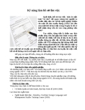 Kỹ năng làm hồ sơ tìm việc