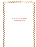 SKKN: Kỹ năng thiết kế hoạt động ngoại khoá ở Liên đội Tiểu học Tiên Cát