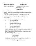 Đề Thi OLympic Văn Lớp 6 - THCS Bích Hòa