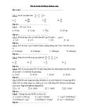 Bộ câu hỏi ôn luyện thi Rung chuông vàng lớp 5