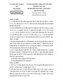Đề thi chọn HSG cấp tỉnh môn Hóa lớp 9 năm 2012-2013 - Sở GD&ĐT Bắc Ninh