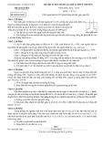 Đề thi tuyển sinh 10 Vật lí - Sở GD&ĐT Thái Nguyên (2012-2013)