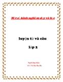 SKKN: Một số kinh nghiệm dạy và học Luyện từ và câu lớp 2