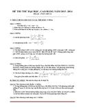 Đề thi thử ĐH-CĐ 2014 môn Toán (mã đề 22)